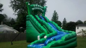 Green Monster Dual Lane Water Slide 25x16x22 $450.00 ($650 for 2 day Rental)