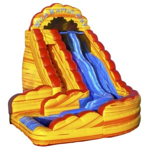 Wild Rapids Fire Dual Lane 22' Slide 25x16x22 $450