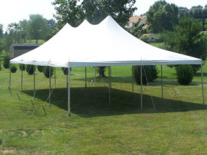 "20x40 Tent Package (8) 60"" Round Tables 48 White Chairs (2) 8 Foot Banquet Tables $525"