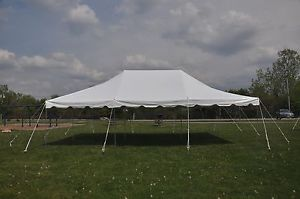 "20x30 Pole Tent Package (6) 60"" Round Tables 48 Chairs (1) 8' Banquet Table $425.00"