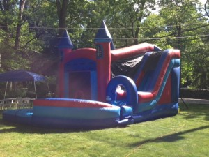 Jump & Splash High Castle with Pool 18x27x17 $400 ($575 for 2 day Rental)