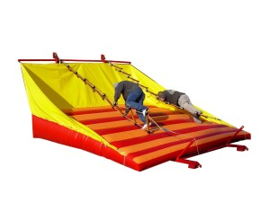 Jacob's Ladder 17x15x9 $450.00 This is a race against an opponent and a test of your own skill. Each of two competitors try to climb up the rope ladder. The one who makes it to the top first wins