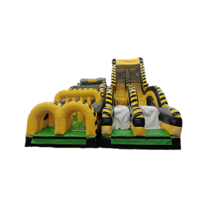 Atomic Nuclear Rush 55x21x21 $1,200.00 This unit is a gigantic three piece design that weighs over 1500lbs. The final piece is the Atomic Drop, a gigantic Rock Climb Slide that ends with a drop into an air bag.  This is a crowd pleasure for children of all ages.