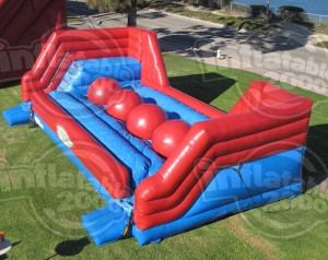 Leaps & Bounds 39x21x12 $800.00 This game features a series of four giant inflatable balls which challengers must leap across to reach the other side.