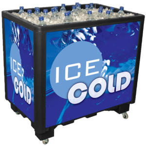 100 Quart Cooler Holds 78 20oz bottles or 105 12oz bottles or 142 12oz cans
