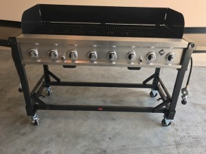 "60"" Portable Outdoor Grill 8-Burner Grill made for large Events $150 ($50 cleaning fee) Requires 2 propane tanks (not included)"