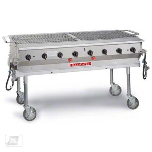 "60"" Portable Outdoor Gas Grill (60''x24'')It has a heavy duty cooking grid made for high-volume professional use. $200"